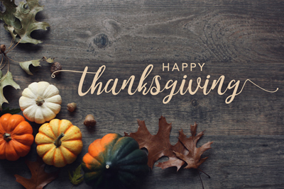 Happy Thanksgiving From Custom Insulation Company Inc.